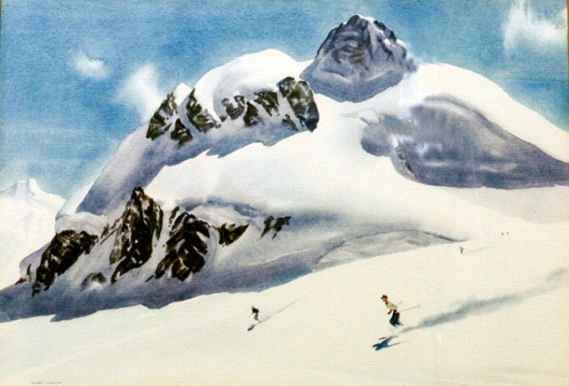 Skiing in the Rockies, Albert Sheldon Pennoyer