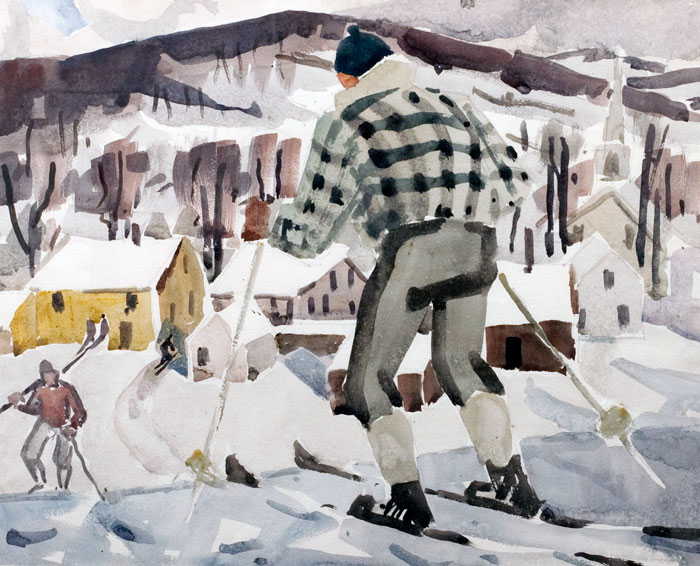 Skiing in Vermont, Fitzgerald