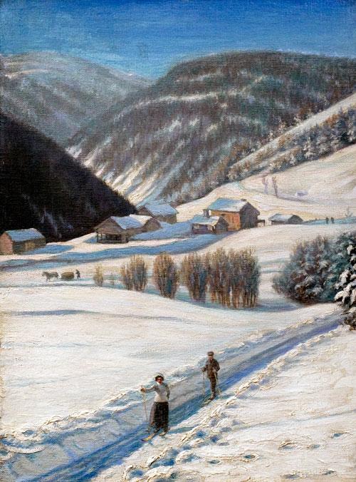 Udsigh fra Tophe Langhoruim i Norge, Christensen