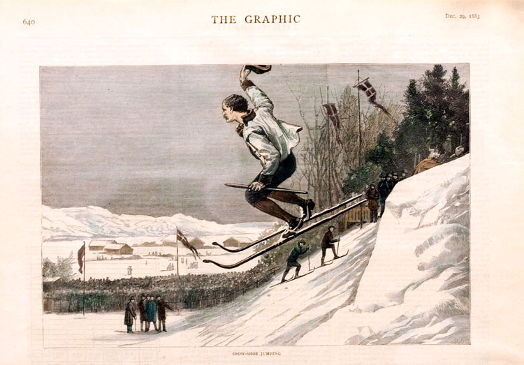 Jumping, magazine clipping