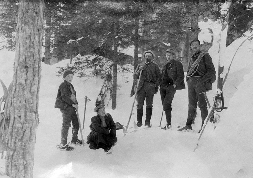 Winter Sportsmen in the Ampezzo Valley