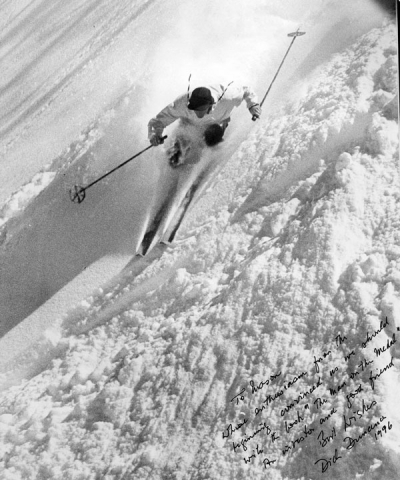 Dick skiing at Alta, Dick Durrance