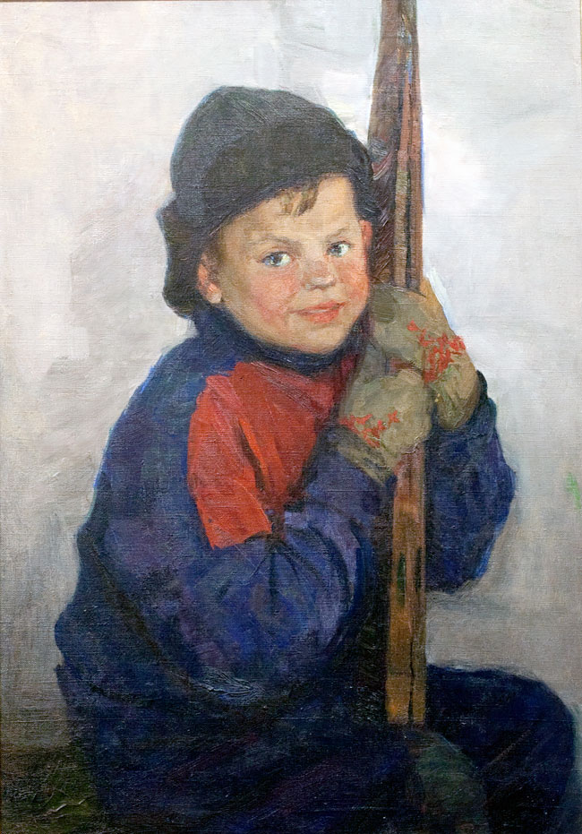 A Boy with Skis