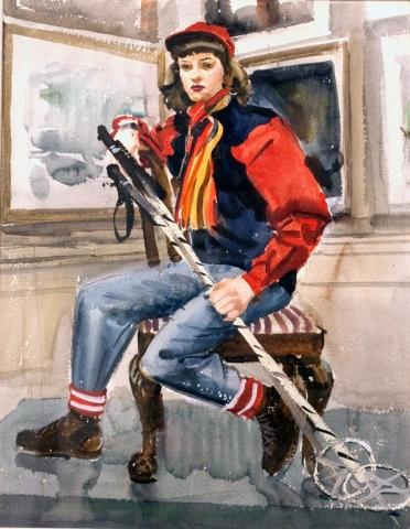Lady Skier