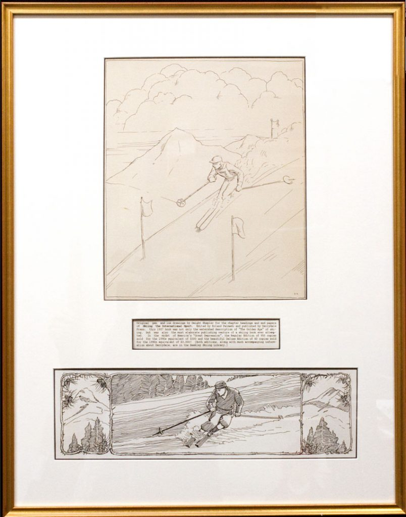 "Drawing for ""Skiing, the International Sport"", Dwight Shepler, 1937"